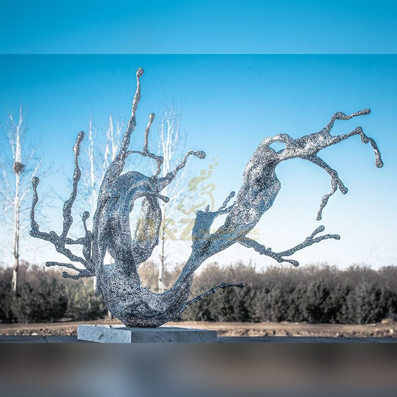 stainless steel water drop sculpture