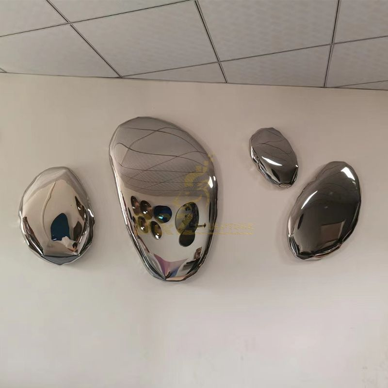 Metal wall mirror decor hanging 3dmetal art sculpture for home
