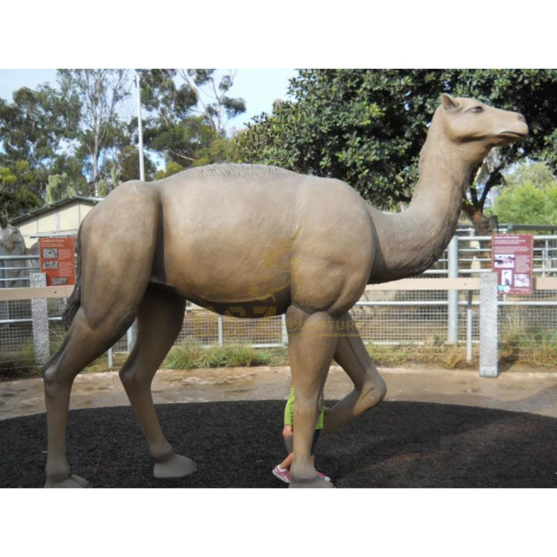 Hand cast high quality bronze camel sculpture for sale