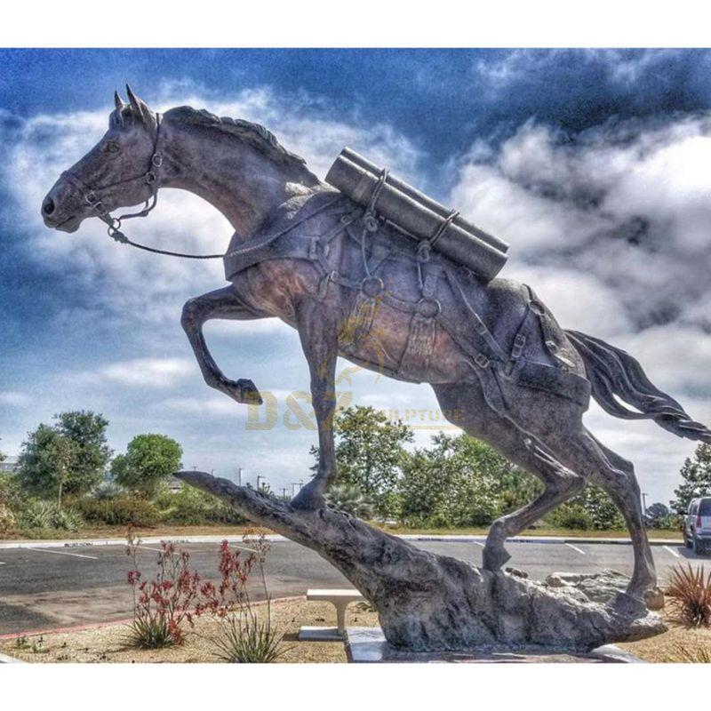 bronze running horse