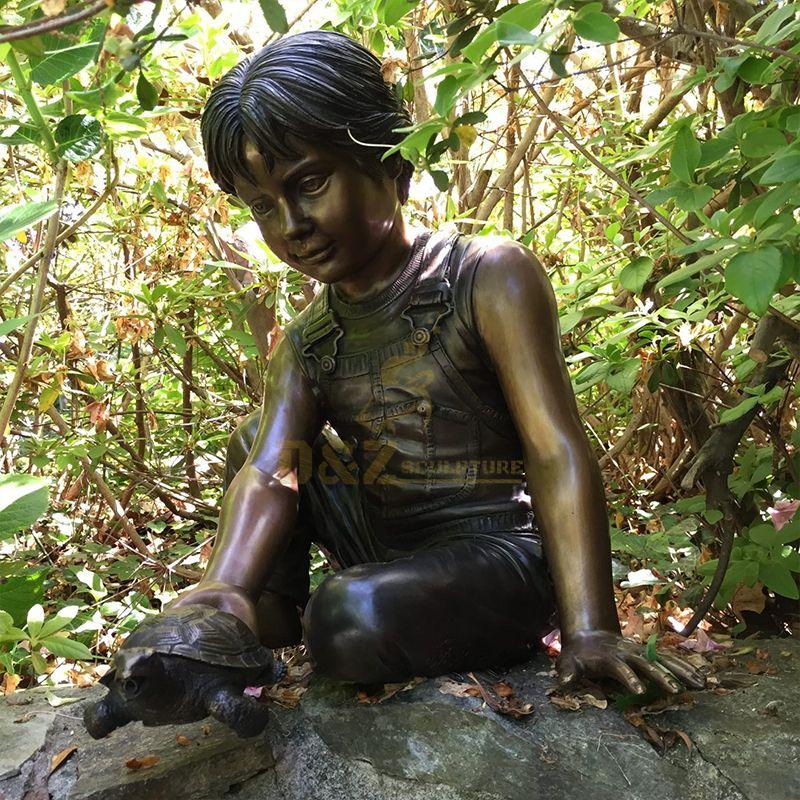 turtle boy statue