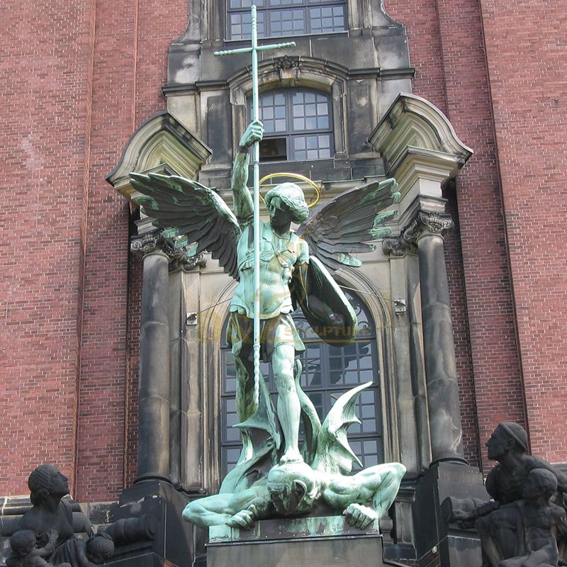 Bronze st michael the archangel outdoor statue