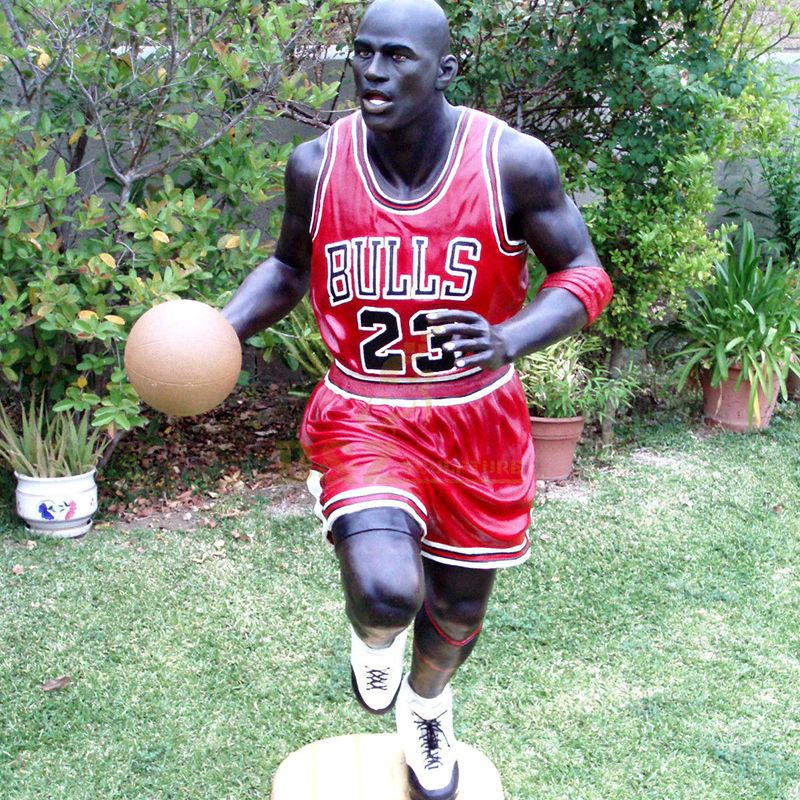 Life size michael jordan statue