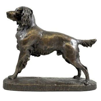 golden retriever statue for garden