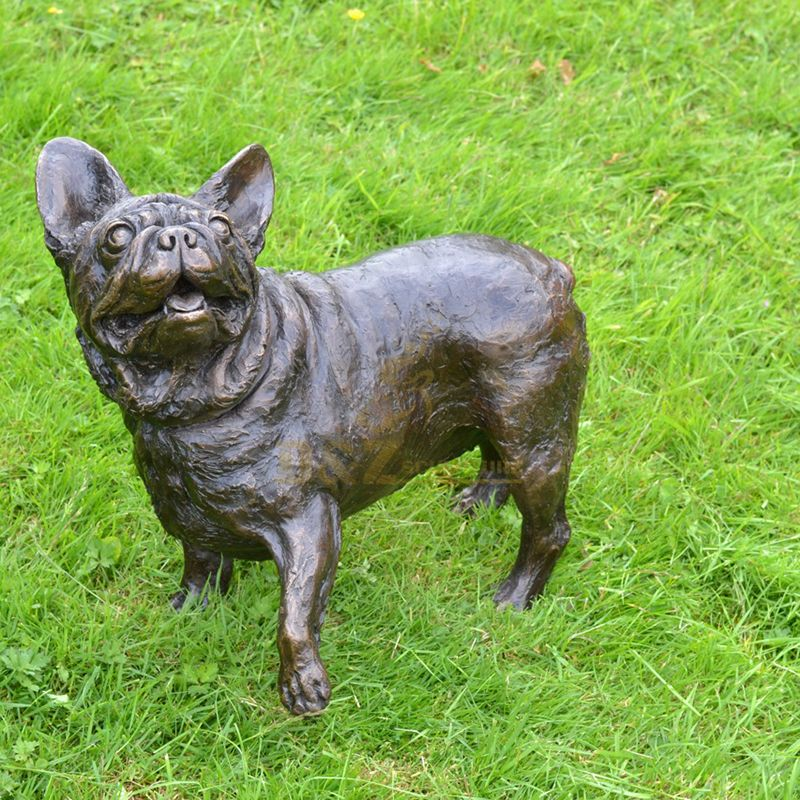 Hand cast the best quality French bulldog garden statue