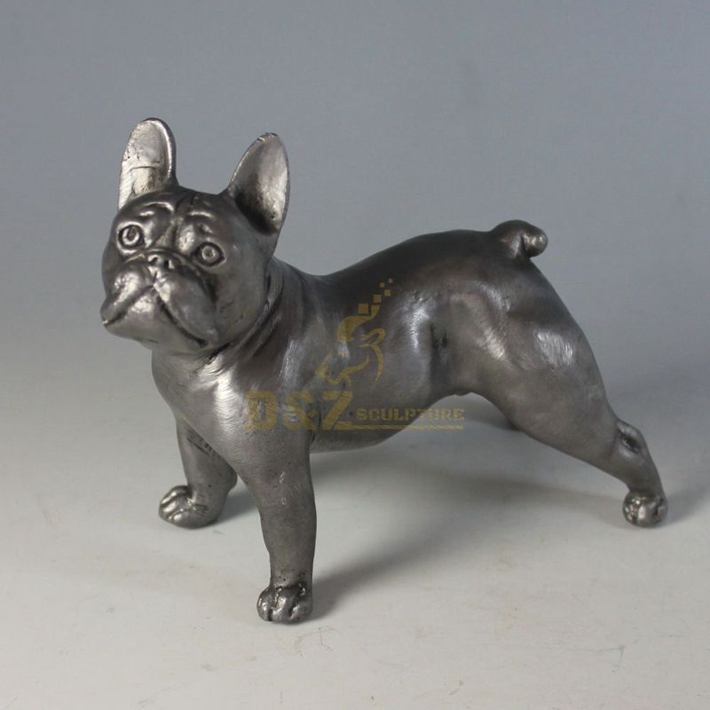 bronze french bulldog statue
