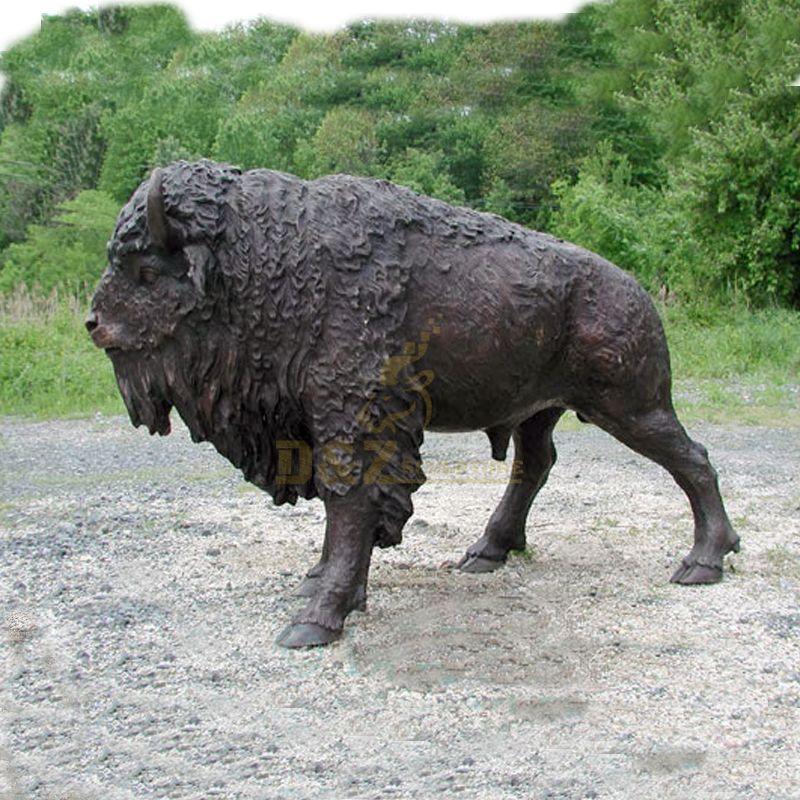 bison bronze statue