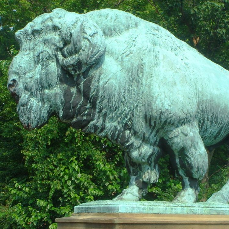 giant bison statue