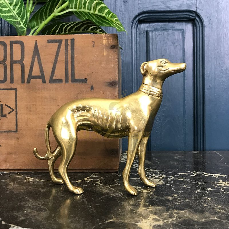 The best quality life-size brass greyhound statue for sale