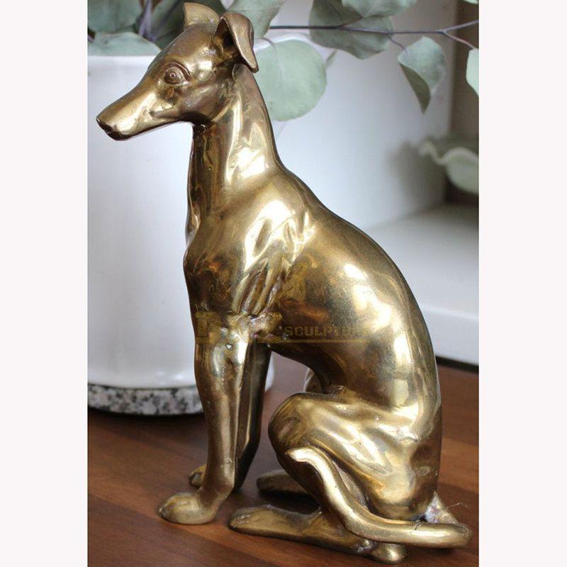 sitting greyhound statue