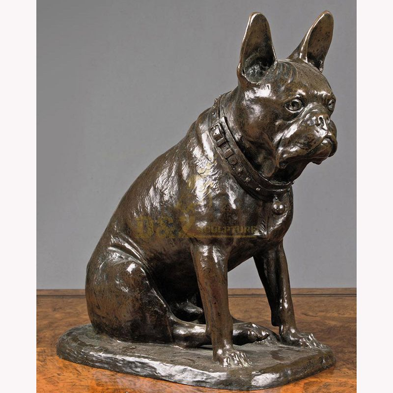 Customized high quality bronze french bulldog statue for sale