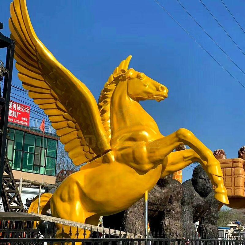 large pegasus statue