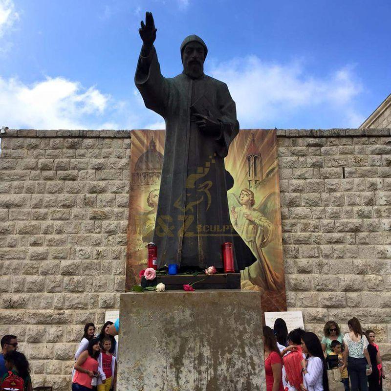 st.charbel statue