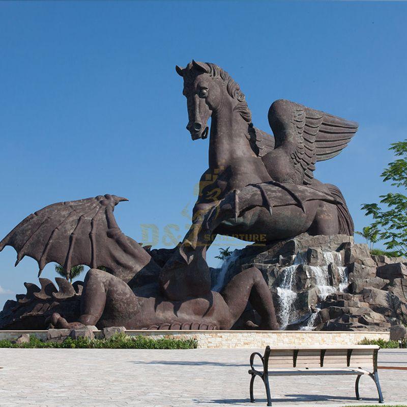 frank stronach pegasus statue