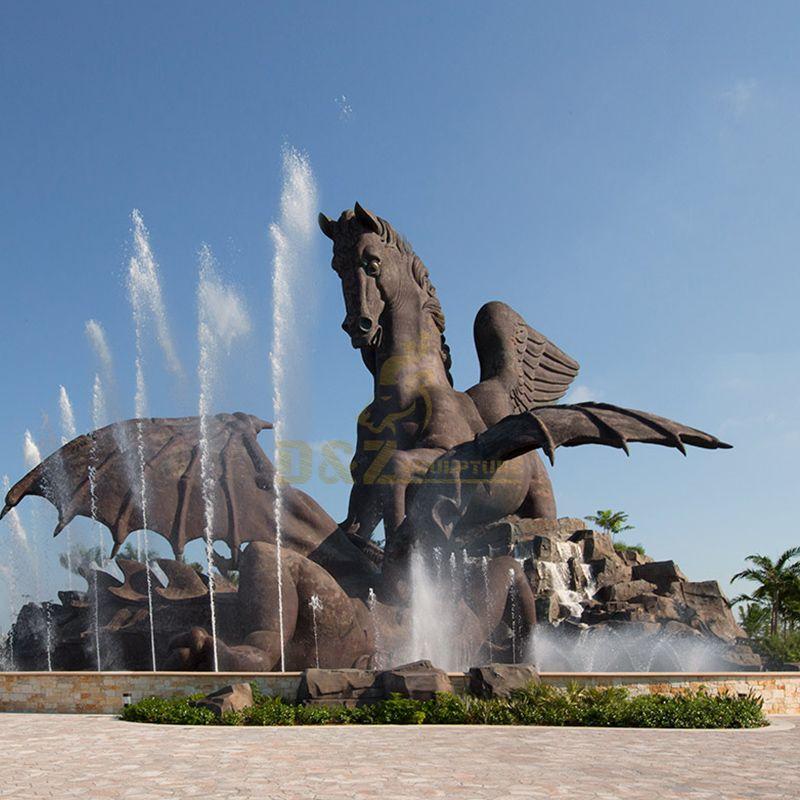 pegasus bronze statue