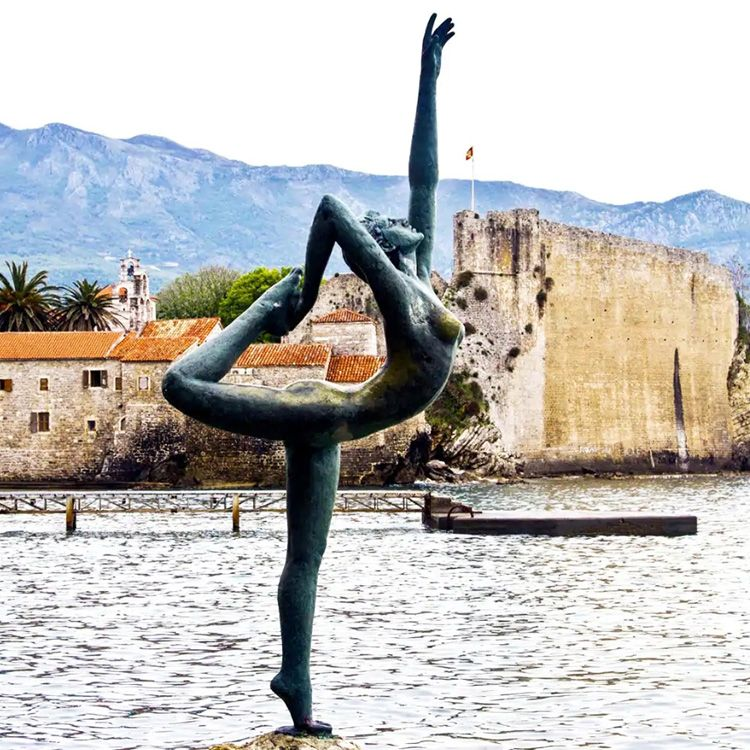 brass yoga statue