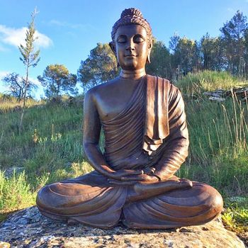 Outdoor metal material casting bronze Buddha statue for sale