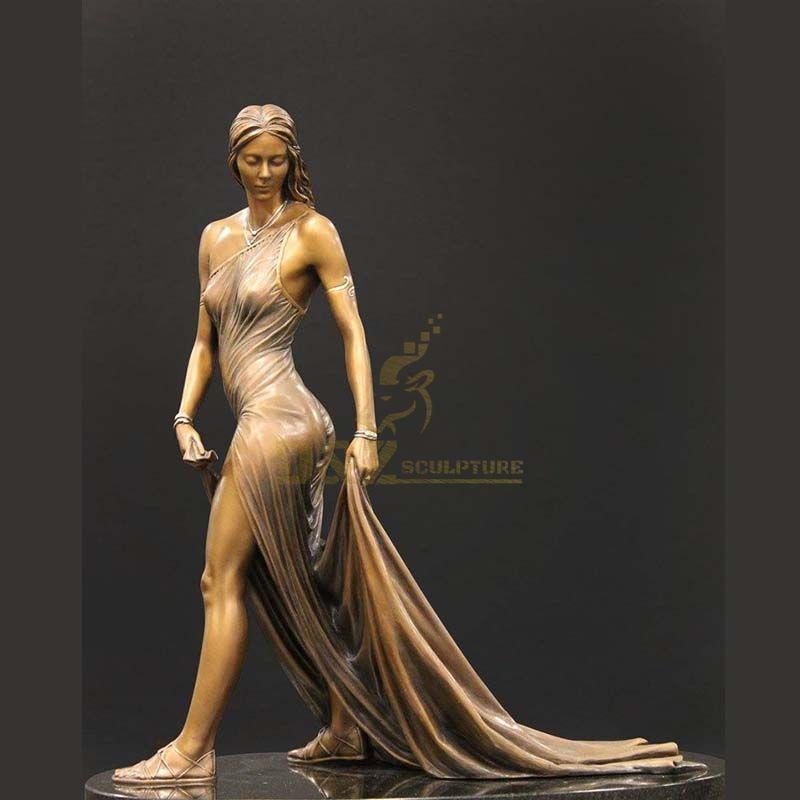 Lady Of Shalott Bronze Sculpture