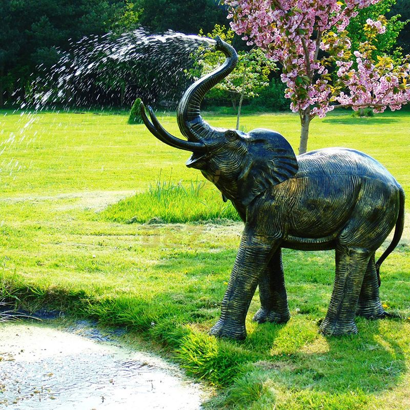 Outdoor swimming pool decoration large bronze elephant fountain