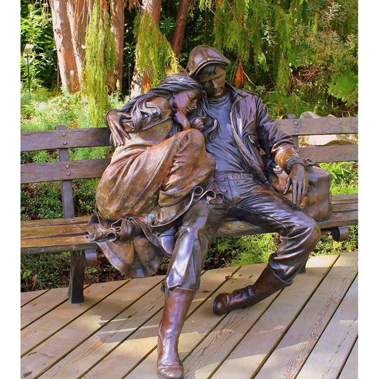 bronze couple statue