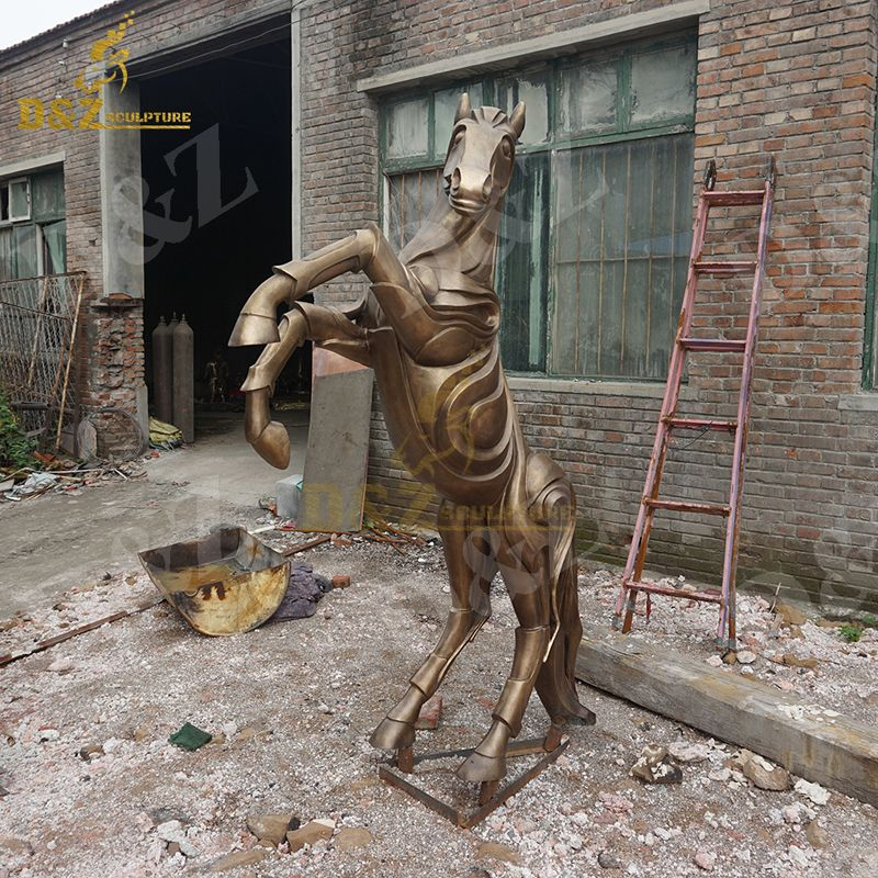 Abstract horse sculpture