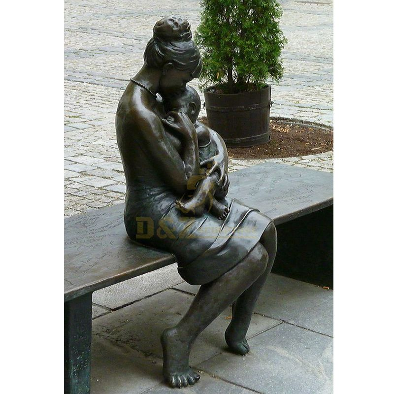 mother and child garden statue