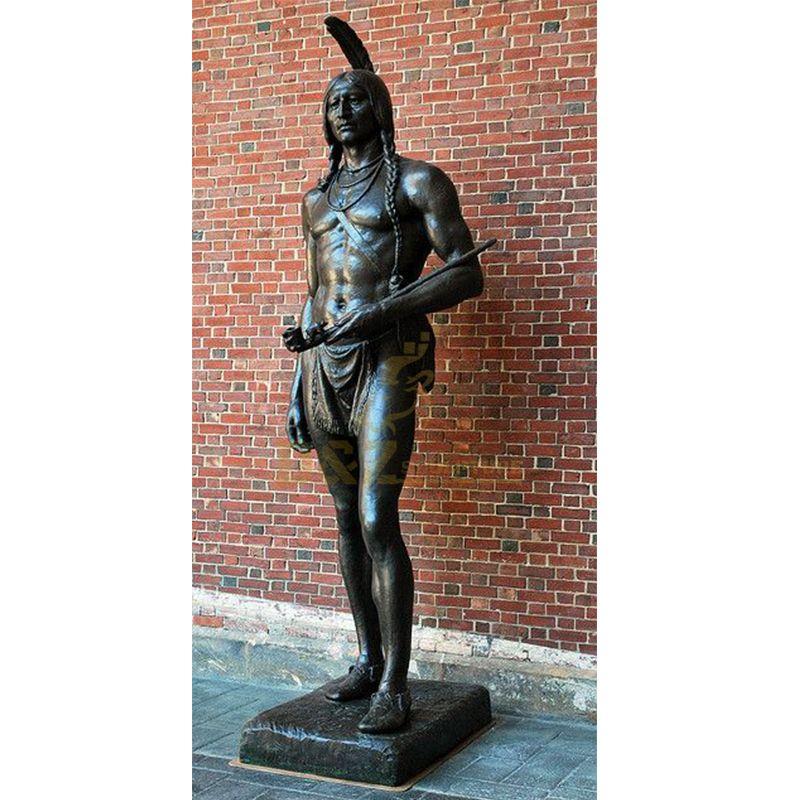 Life size native american statues Massasoit in america