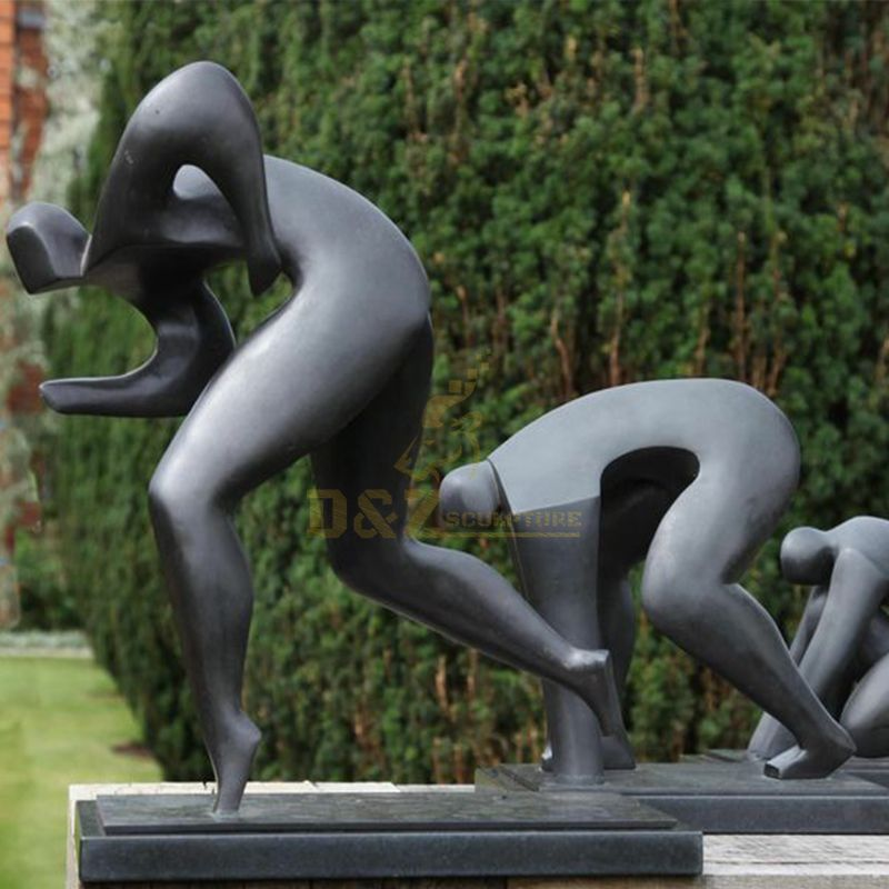 Outdoor Abstract bronze leisure sports statues for sale