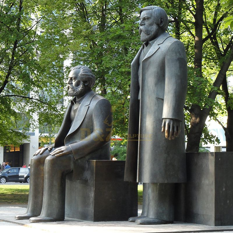 Custom-made famous Marx and Engels statues for sale