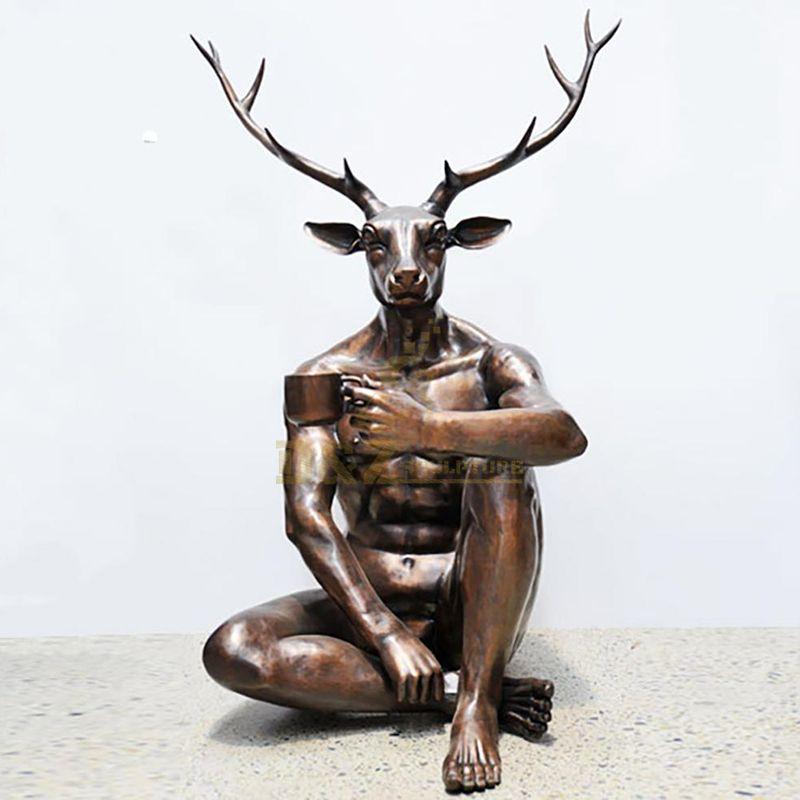 abstract deer statue