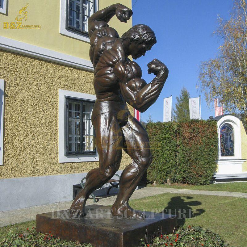 Life Size Bronze Famous Male Arnold Schwarzenegger Statue Strong Man Sculpture