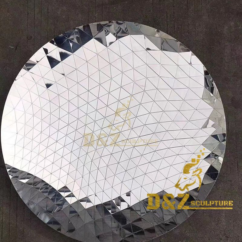High quality mirror polygonal home wall decoration art stainless steel sculpture