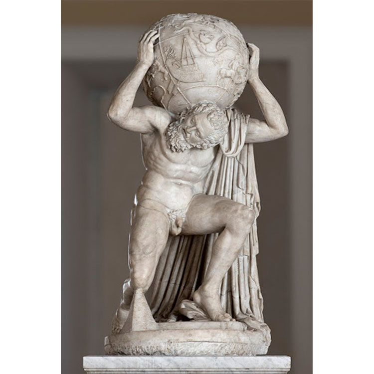 statue of atlas holding the earth