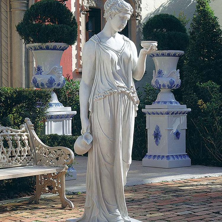 large hebe goddess of youth garden statue for sale