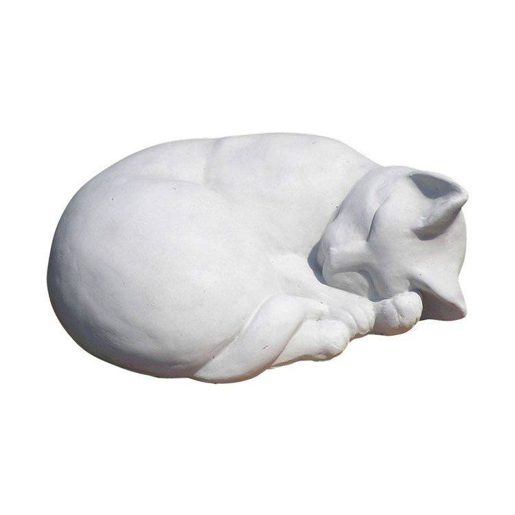 classic sleeping cat statue