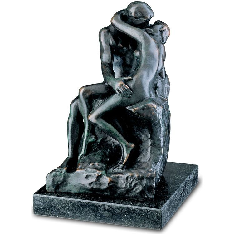 the lovers bronze statue