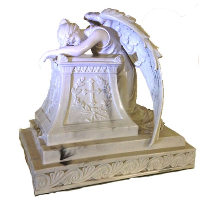 cemetery crying angel statue