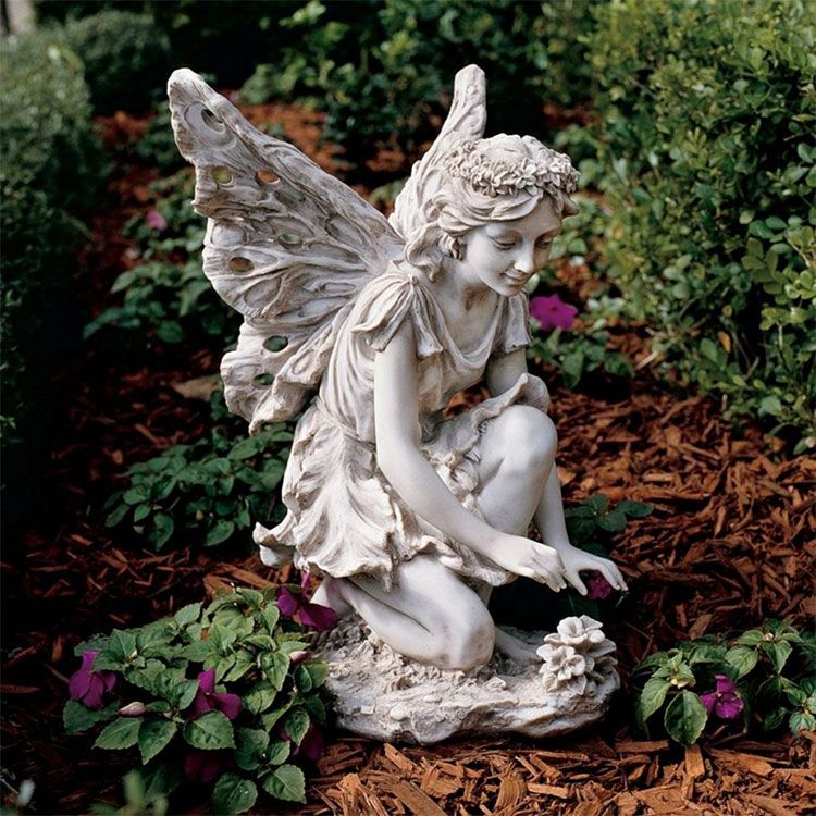 Outdoor stone fairy garden statues for sale