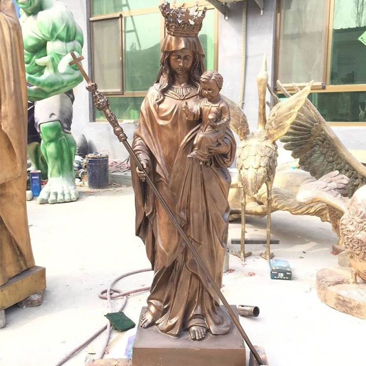 Bronze large blessed mother outdoor garden statue