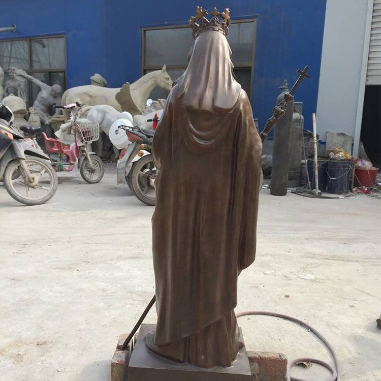 back of Outdoor Blessed Mother Statue