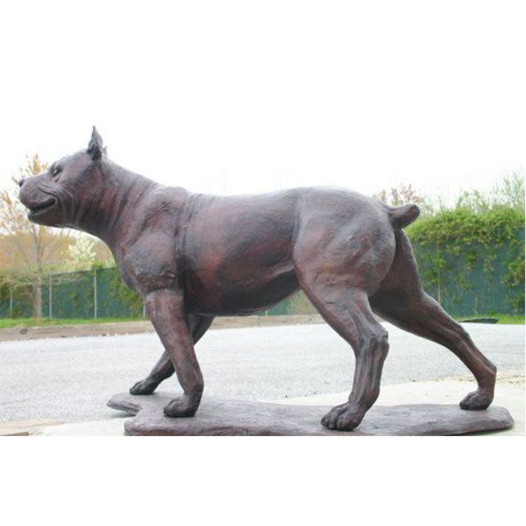 life size pitbull dog statue