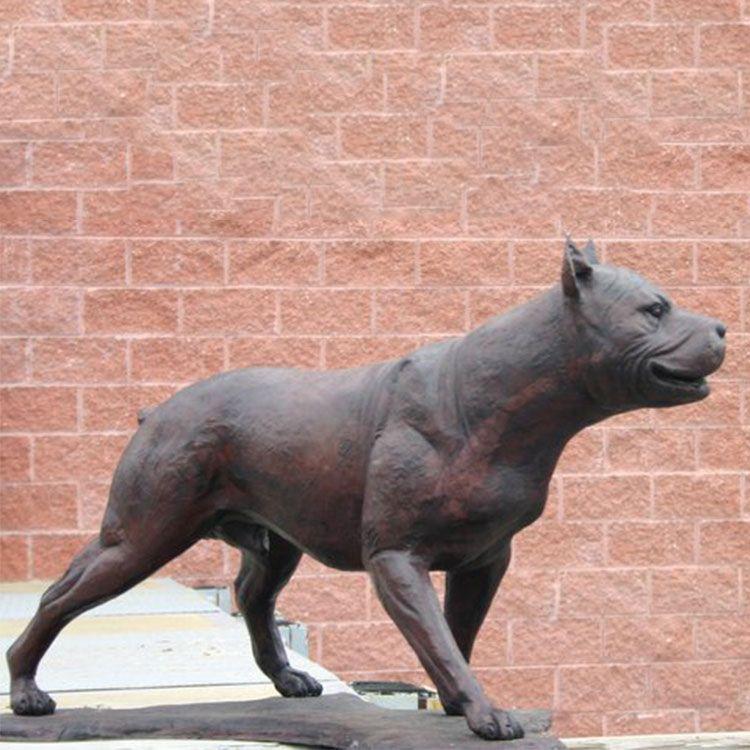 life size pitbull dog garden statue for sale