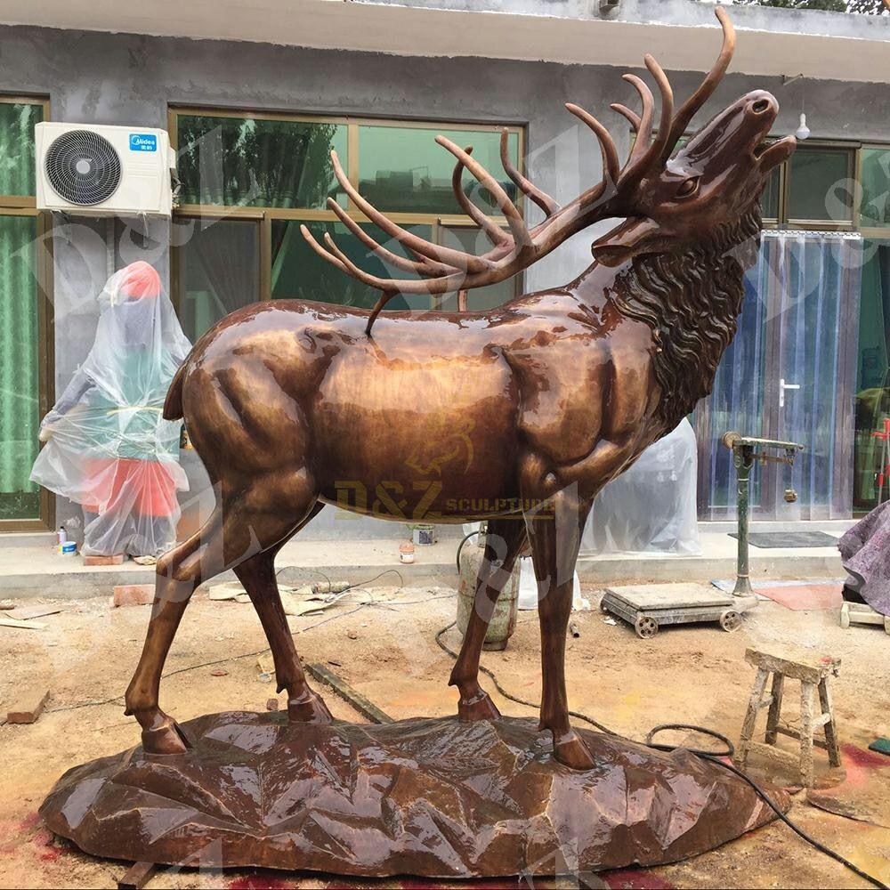 large metal deer yard art