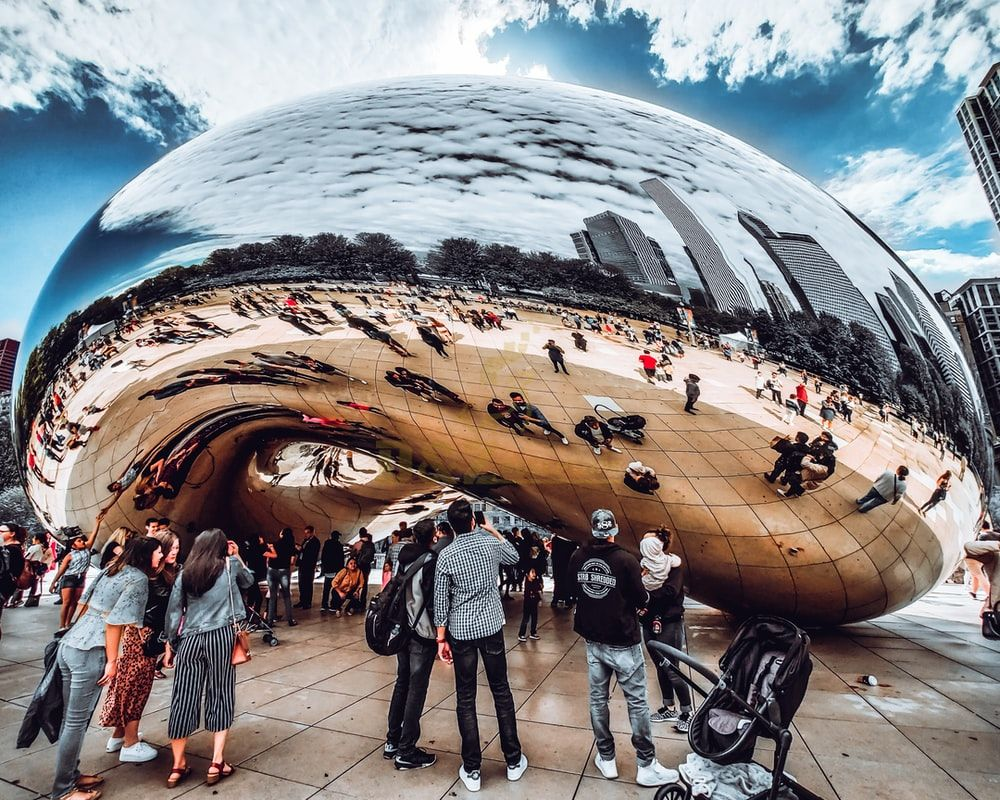 cloud gate sculpture the bean in chicago replica for sale