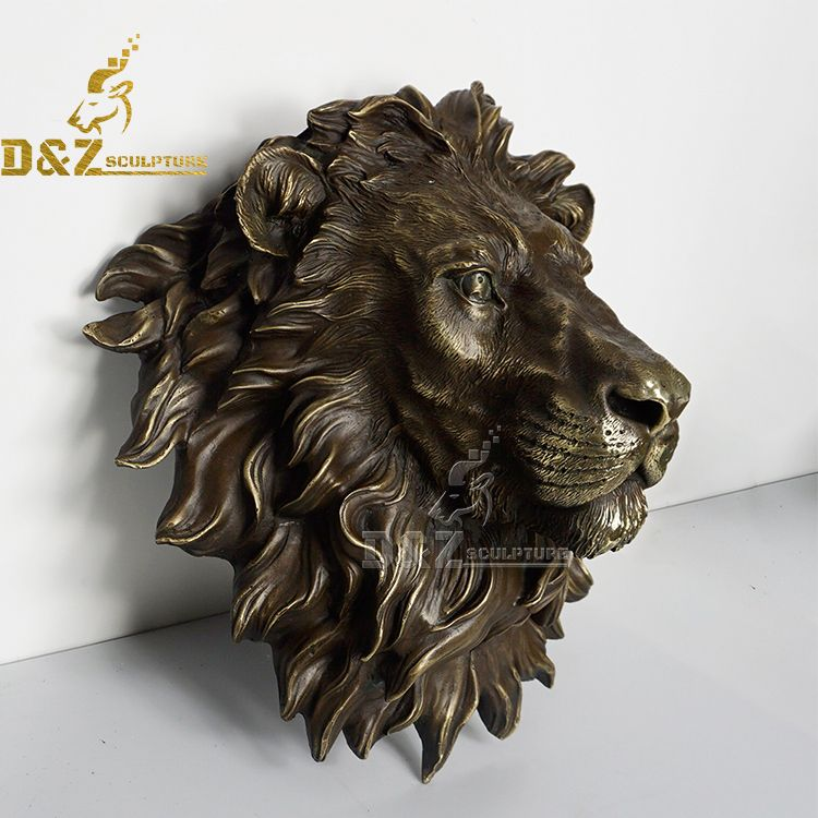 lion head wall sculpture