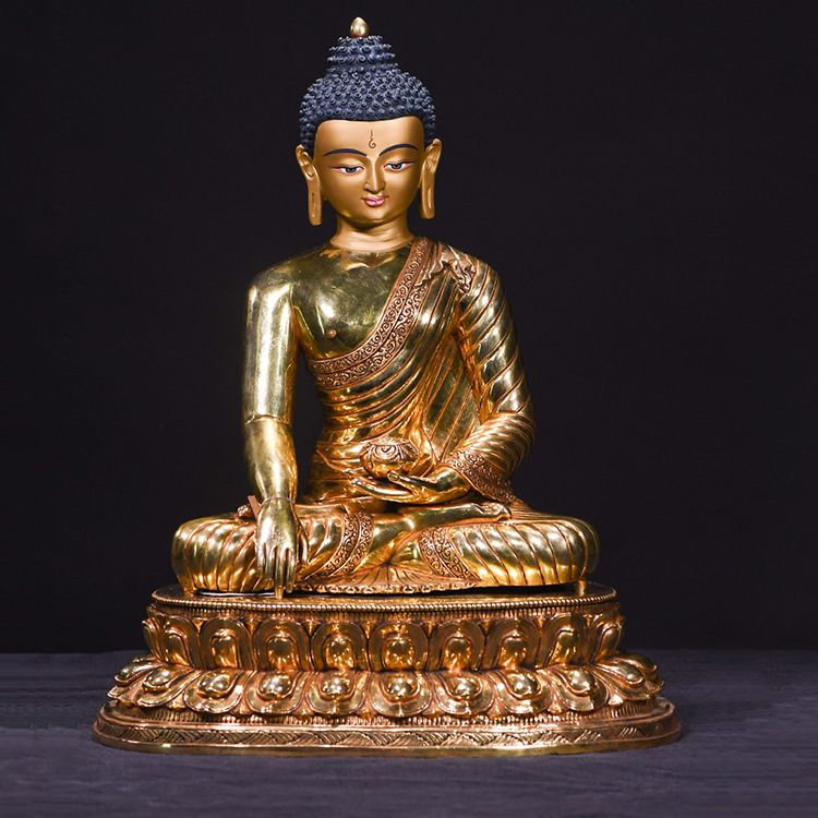 large metal buddha statue