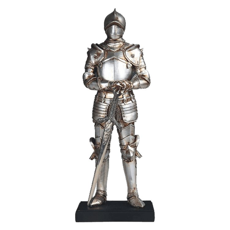 life size metal knight statue