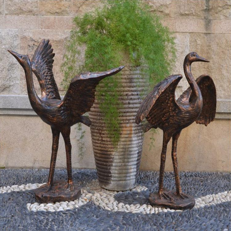 large outdoor metal crane statues for garden