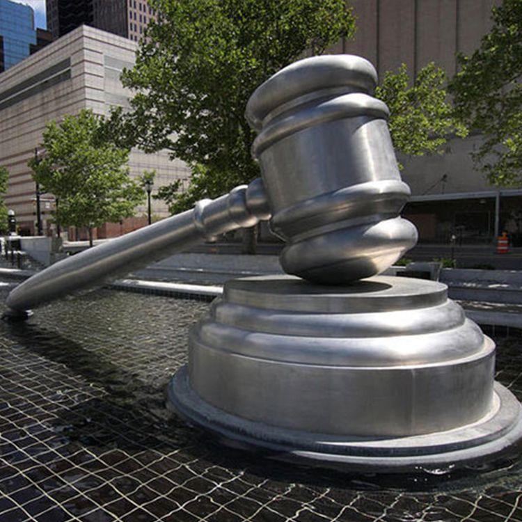 giant gavel sculpture