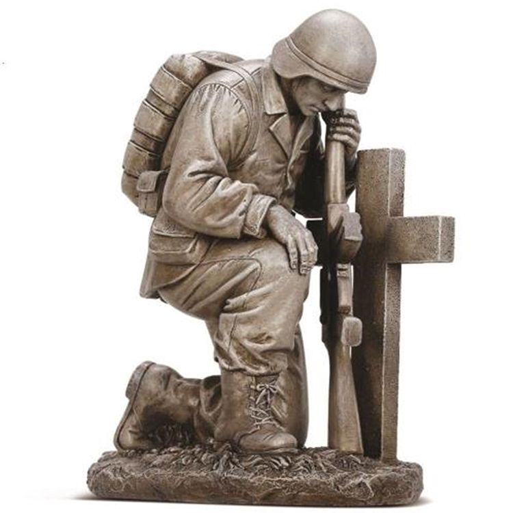 kneeling soldier statue for sale